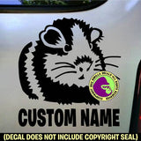 Guinea Pig #1 - ADD YOUR CUSTOM WORDS - Vinyl Decal Sticker