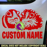 Guinea Pigs #2 - ADD YOUR CUSTOM WORDS - Vinyl Decal Sticker