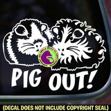 PIG OUT! Guinea Pig Vinyl Decal Sticker