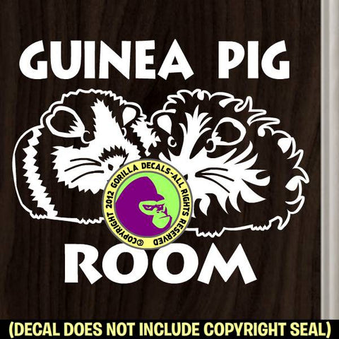 GUINEA PIG ROOM Vinyl Decal Sticker