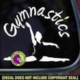 GYMNASTICS Gymnast Vinyl Decal Sticker