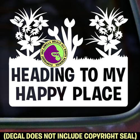 HAPPY PLACE GARDEN Vinyl Decal Sticker