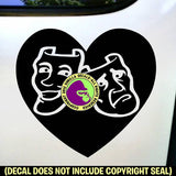 HEART - DRAMA MASKS Vinyl Decal Sticker