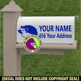 HEDGEHOG Custom Mailbox Set Vinyl Decal Sticker