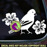 HIBISCUS CANARY Bird Vinyl Decal Sticker