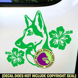 GERMAN SHEPHERD Hibiscus - Dog Vinyl Decal Sticker