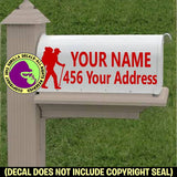 HIKER MAILBOX Set - ADD YOUR NAME & ADDRESS Vinyl Decal Sticker