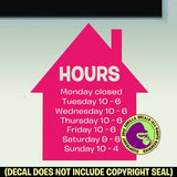 HOUSE REALTOR HOURS - Custom Text - Vinyl Decal Sticker