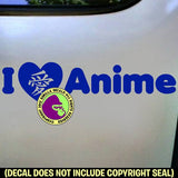 I LOVE ANIME Vinyl Decal Sticker