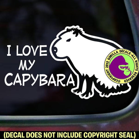 I LOVE MY CAPYBARA Pet Capy Love Rodent Vinyl Decal Sticker