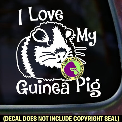 I LOVE MY GUINEA PIG Vinyl Decal Sticker