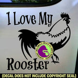 I LOVE MY ROOSTER Farm Chickens Vinyl Decal Sticker