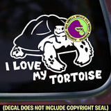 I LOVE MY TORTOISE Vinyl Decal Sticker