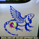 IGUANA WINGS Dragon Vinyl Decal Sticker