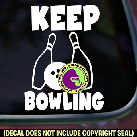 Bowling - KEEP BOWLING Vinyl Decal Sticker