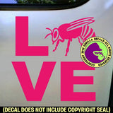 LOVE Word BEES Beekeeper Vinyl Decal Sticker