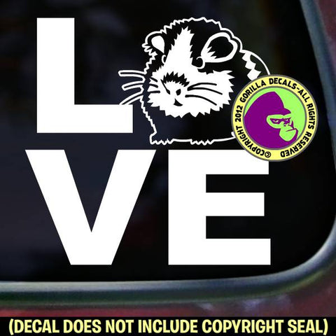 LOVE Word GUINEA PIG Vinyl Decal Sticker