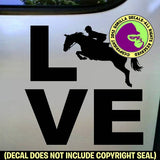 LOVE Word Hunter Jumper Vinyl Decal Sticker