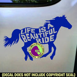 LIFE IS A BEAUTIFUL RIDE Horse Vinyl Decal Sticker