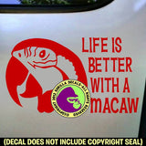MACAW PARROT - Life is Better with - Vinyl Decal Sticker
