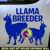 LLAMA BREEDER #2 Full Body Vinyl Decal Sticker