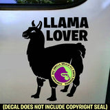 LLAMA LOVER #2 Full Body Vinyl Decal Sticker