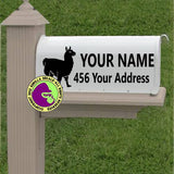 Llama MAILBOX Set - ADD YOUR NAME & ADDRESS Vinyl Decal Sticker