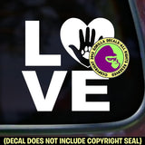 LOVE PAW Vinyl Decal Sticker
