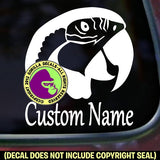 Macaw Parrot - ADD YOUR CUSTOM WORDS - Vinyl Decal Sticker
