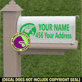MACAW - Parrot MAILBOX Set - ADD YOUR NAME & ADDRESS Vinyl Decal Sticker