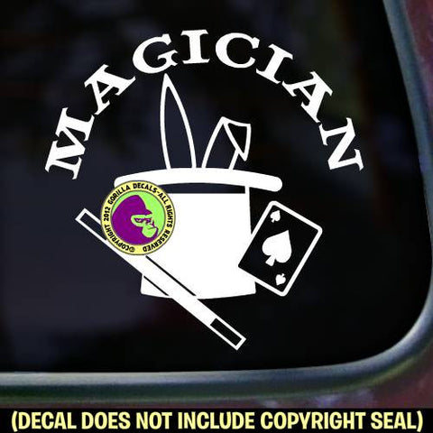 MAGICIAN Magic Vinyl Decal Sticker