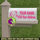 MALTESE - Dog MAILBOX Set - ADD YOUR NAME & ADDRESS Vinyl Decal Sticker