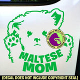 MALTESE MOM - Dog Breed Love Vinyl Decal Sticker