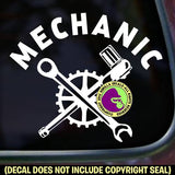 MECHANIC Job Tools Vinyl Decal Sticker