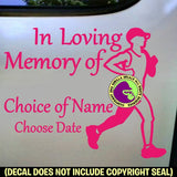 MEMORIAL Marathon Runner ADD CUSTOM WORDS Vinyl Decal Sticker