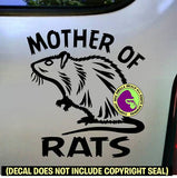 MOTHER OF RATS Pet Rat Vinyl Decal Sticker