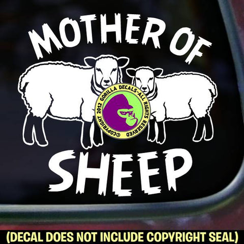 MOTHER OF SHEEP Vinyl Decal Sticker