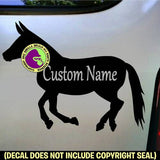 Mule ADD YOUR CUSTOM WORDS Vinyl Decal Sticker
