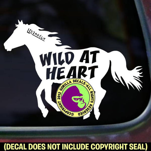 Mustang - WILD AT HEART Vinyl Decal Sticker