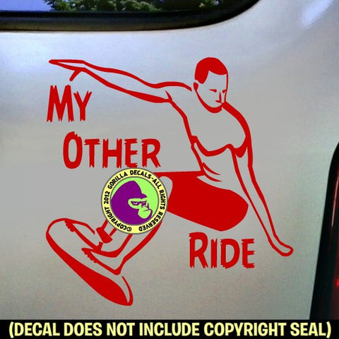 MY OTHER RIDE Surfer Vinyl Decal Sticker
