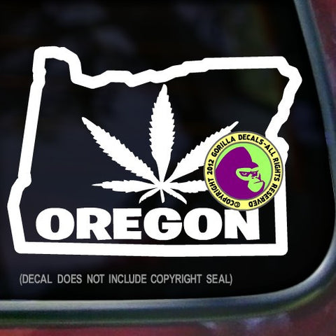 OREGON STATE MARIJUANA Vinyl Decal Sticker