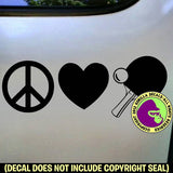 PEACE LOVE TABLE TENNIS Paddles Game Vinyl Decal Sticker