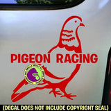 PIGEON RACING Vinyl Decal Sticker