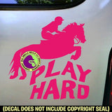 PLAY HARD Cross Country Vinyl Decal Sticker