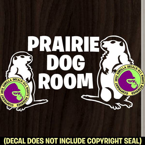 PRAIRIE DOG ROOM Pet Love Vinyl Decal Sticker