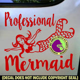 PROFESSIONAL MERMAID Diver Diving  Vinyl Decal Sticker