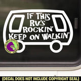 RV ROCKIN' Funny Vinyl Decal Sticker
