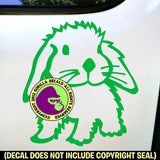 Rabbit Vinyl Decal Sticker