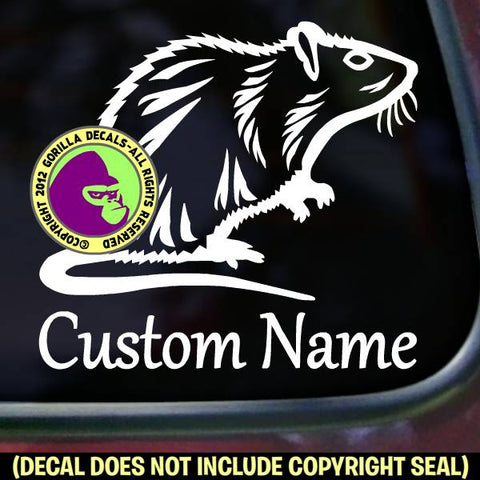 Rat - ADD YOUR CUSTOM WORDS - Vinyl Decal Sticker