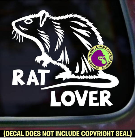 RAT LOVER Pet Vinyl Decal Sticker